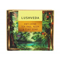 Lushveda Anti-Acne Tea Tree, Neem & Clay Soap