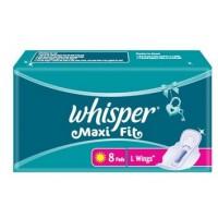 Whisper Sanitary Pad Maxi Fit L Wing (8S)