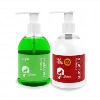 MCaffeine Tan Protection Combo - Neem Caffeine Face Wash + Sea Fern Caffeine Sunscreen