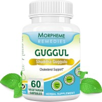 Morpheme Remediess Guggul (Commiphora Mukul) for Cholesterol Support - 500mg Extract