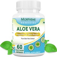 Morpheme Remedies Aloe Vera For Digestive and Skin Care - 500mg Extract