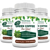Morpheme Remedies Green Coffee Bean Extract 500mg - Pack of 3