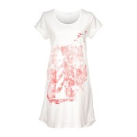 Nordlich Lighthouse Printed Sleeptee - White