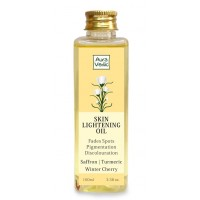 AuraVedic Skin Lightening Oil with Saffron Turmeric Winter Cherry