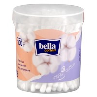 Bella Cotton Buds Round Box A100