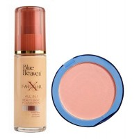 Blue Heaven X Factor Foundation-Natural &  Silk On Face Compact Skin Combo
