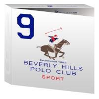 Beverly Hills Polo Club Mens Deodorant, Shower Gel And Eau De Toilette No.9 Gift Set