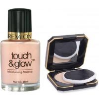 Revlon Touch & Glow Moisturising Makeup - 8 Ivory Mist + Touch & Glow Moisturising Powder - Ivory Matte