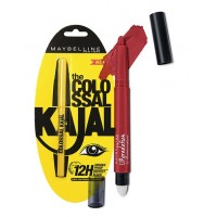 Maybelline New York Lip Gradation - Red 801 + Free The Colossal Kajal