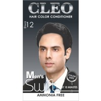 Cleo Hair Color Conditioner for Men Swift  - Black 12