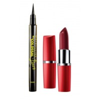 Maybelline The Colossal Liner - Black + Free Moisture Extreme Lipstick - 926 Pure Passion