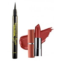 Maybelline The Colossal Liner - Black + Free Moisture Extreme Lipstick - 814 Dusky Mauve