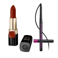 L'Oreal Paris Pure Reds Color Riche Collection Star Lipsticks - Pure Brick (Aishwarya Rai) + Free Kajal Magique