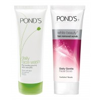 Ponds Daily Face Wash + Ponds White Beauty Tan Removal Scrub