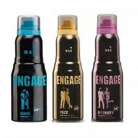 Engage Men Deodorant - Mate + Fuzz + Intensity Deo Free
