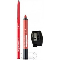 Faces Magneteyes Kajal - Lasts All Day - Black + Ultime Pro Matte Lip Crayon - Really Rust 07 With Sharpener