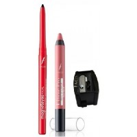 Faces Magneteyes Kajal - Lasts All Day - Black + Ultime Pro Matte Lip Crayon - Peach Me 08 With Free Sharpener