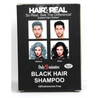 Hair4Real Natural Black Hair Shampoo(Pack of 6 Sachet)