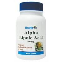 HealthVit Alpha Lipoic Acid 100 MG 60 Tablets For Hair & Skin Care