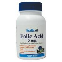 HealthVit Folic Acid 5mg 60 Tablets for Cardiac Care