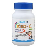 HealthVit Kid-C  Kid's Vitamin C Chewable 50mg (60 Caps)