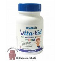 Healthvit Vita-Kid Kid's Multivitamin With Dha &  Minerals Chewable (60 Tablets)