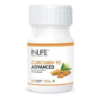 INLIFE Curcumin Turmeric Extract 500mg, 60 Veg Capsules For Brain & Immune Health