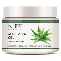 INLIFE Natural Aloe Vera Face Gel 100gm, Anti Ageing Moisturizer, Paraben Free
