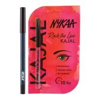 Nykaa GLAMOReyes Eye Pencil - Azure Charm 05 + Rock The Line Kajal