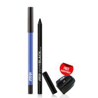 Nykaa GLAMOReyes Eye Pencil - Blue Hex 01 + EyemBLACK Kajal With Free Sharpener