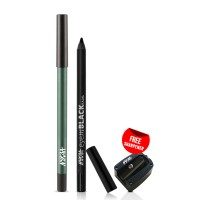 Nykaa GLAMOReyes Eye Pencil - Jade Jinx 03 + EyemBLACK Kajal With Free Sharpener