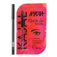 Nykaa GLAMOReyes Eye Pencil - Voodoo Grey 04 + Rock The Line Kajal