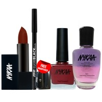 Nykaa Queen Bee Eyes Lips and Nails Combo