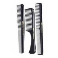 Kent Black Comb 3 Pack Set