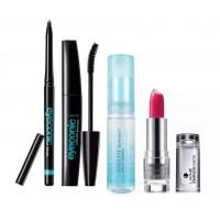 Eyeconic Kajal + Eyeconic Mascara + Lakme Make Up Remover + Enrich Satin Lipstick - P149