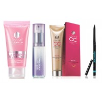 Lakme Cc Cream (Biege) + Lakme Clean Up Fresh Fairness Face Wash 50Gms+ Absolute Pore Fix Toner + Eyeconic Black Kajal + Free Either Red or Pink Purse
