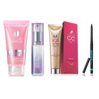 Lakme Cc Cream (Biege) + Lakme Clean Up Fresh Fairness Face Wash 50Gms + Absolute Pore Fix Toner + Eyeconic Black Kajal + Free Either Red or Pink Purse