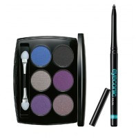 Lakme Absolute Illuminating Eye Shadow - Palette Silver + Lakme Eyeconic Kajal - Black