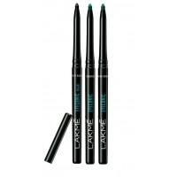 Lakme Eyeconic Kajal - Black + Turquoise + Regal Green (Pack Of 3)