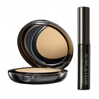 Lakme Absolute White Intense Wet & Dry Compact - Golden Medium + Lakme Absolute Shine Liquid Eye Liner - Black