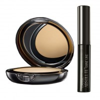 Lakme Absolute White Intense Wet & Dry Compact - Beige Honey + Lakme Absolute Shine Liquid Eye Liner - Black