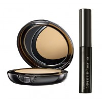 Lakme Absolute White Intense Wet & Dry Compact - Golden Light + Lakme Absolute Shine Liquid Eye Liner - Black