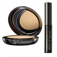 Lakme Absolute White Intense Wet & Dry Compact - Rose Fair + Lakme Absolute Shine Liquid Eye Liner - Black