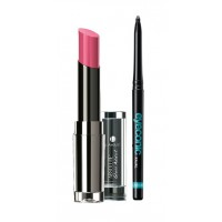 Lakme Absolute Gloss Addict - Candy Pink + Lakme Eyeconic Kajal - Black