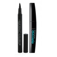 Lakme Absolute Precision Liquid Liner + Lakme Eyeconic Curling Mascara - Black