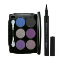 Lakme Absolute Illuminating Eye Shadow - Palette Silver + Lakme Absolute Precision Liquid Liner