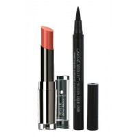 Lakme Absolute Gloss Addict - Nude Glow + Lakme Absolute Precision Liquid Liner