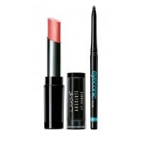 Lakme Absolute Illuminating Lip Shimmer - Rose Gold Dust + Lakme Eyeconic Kajal - Black