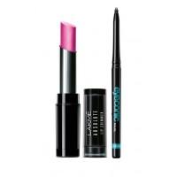 Lakme Absolute Illuminating Lip Shimmer - Wine Gleam + Lakme Eyeconic Kajal - Black
