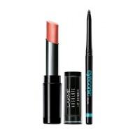 Lakme Absolute Illuminating Lip Shimmer - Copper Spark + Lakme Eyeconic Kajal - Black
